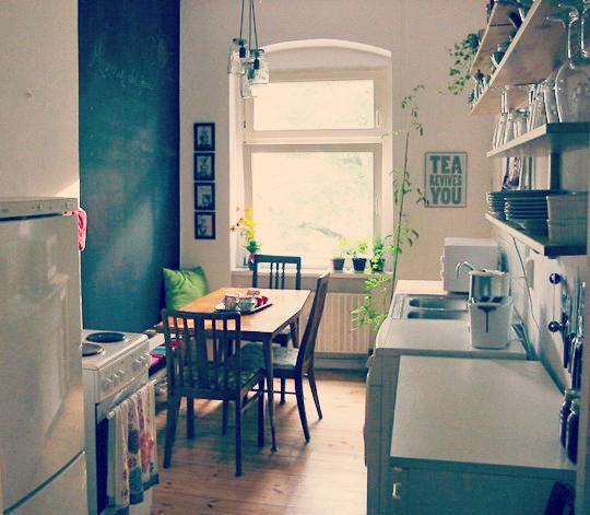 Encantadora peque a cocina sch ne frau for Remodelar casa pequena