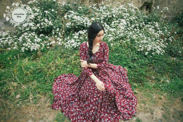 Vestido y falda campesina